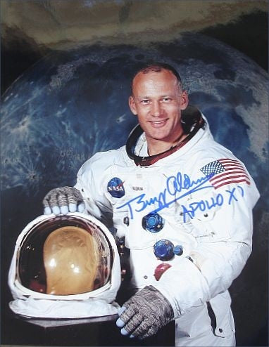 Autographed Photo - Buzz Aldrin's Portrait