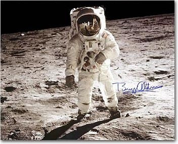 Autographed Photo - Buzz Aldrin's Visor