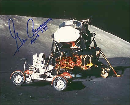 "8"" x 10"" Autographed Photo Gene Cernan 'Rover & LM' - Photo"