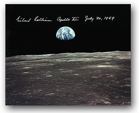 Michael Collins Earthrise Over Smyth's Sea