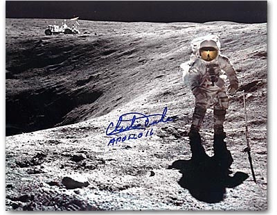 Autographed Photo - Charlie Duke Crater  8x10