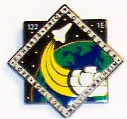 STS-122 Mission Lapel Pin