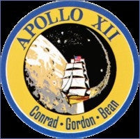 Apollo 12 Mission Lapel Pin - The Space Store