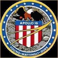 Apollo 16 Mission Lapel Pin - The Space Store