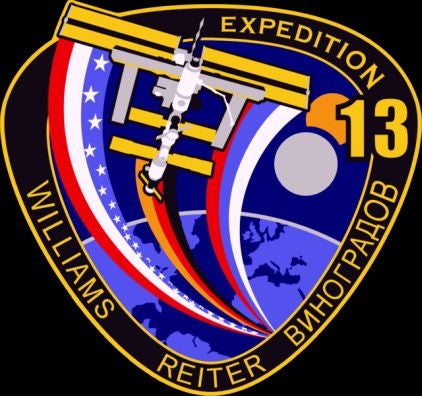 Expedition 13 Mission Lapel Pin
