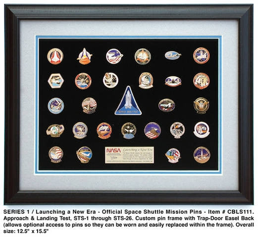 Shuttle Missions Pin Set One - The Space Store