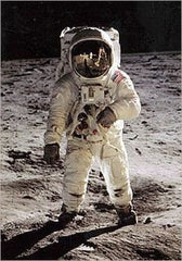"""Buzz Aldrin on the Moon"" - Poster"