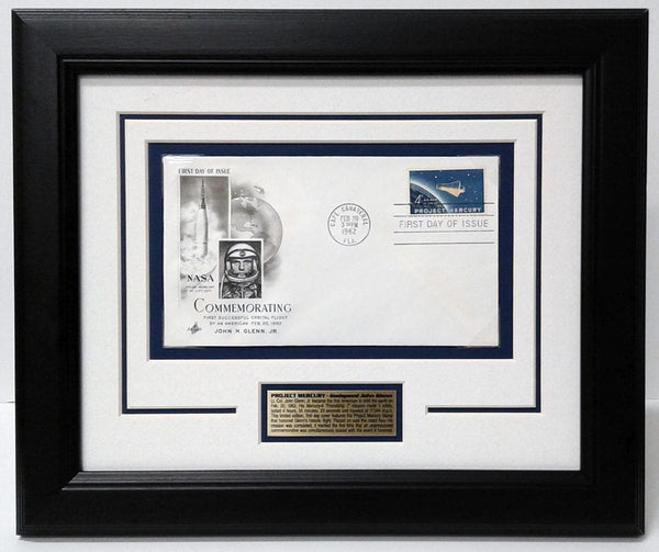 Project Mercury Framed First Day Cover - The Space Store