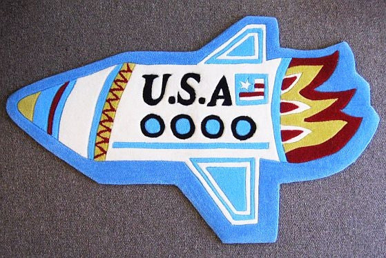Rocket Rug: Hand Tufted and Hand Carved - The Space Store