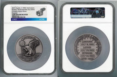 Apollo 11 Robbins Medal 5-oz Silver with Space Flown Alloy NGC Gem Uncirculated - 50th Anniversary Commemorative