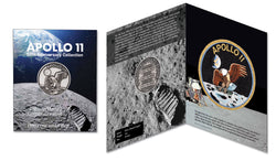 Apollo 11 50th Anniversary Robbins Commemorative 1oz Silver Plated - The Space Store