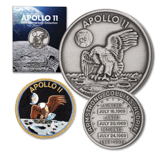 Apollo 11 50th Anniversary Robbins Commemorative 1oz Silver Plated