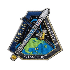 SPACEX SES-10 MISSION PATCH