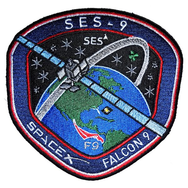 F9 SES-9 MISSION PATCH - The Space Store