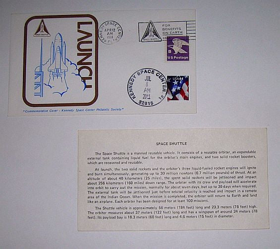 Space Shuttle Launch' Postmarked Envelope 1981 - 2011 (cover)
