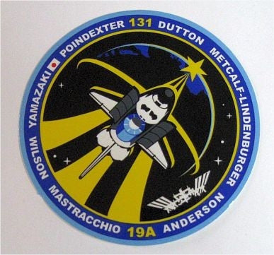 STS-131 Mission Sticker - The Space Store