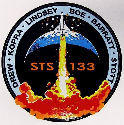 Mission STS-133 Sticker (now updated with Bowen)