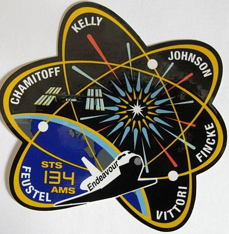 STS-134 Mission Sticker - The Space Store