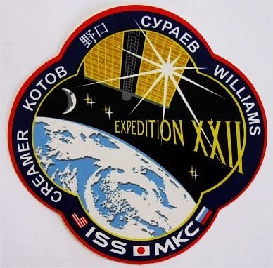Expedition 22 Mission Sticker - The Space Store