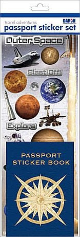 Outer Space Passport Sticker Set