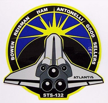 STS-132 Mission Sticker - The Space Store