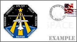 STS-121 Launch/Landing Postmarked Envelope (cover)