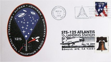 STS-125 Launch/Landing Postmarked Envelope (cover) - The Space Store