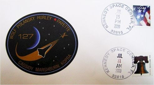STS-127 Launch/Landing Postmarked Envelope (cover) - The Space Store
