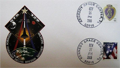 STS-129 Launch/Landing Postmarked Envelope (cover) - The Space Store