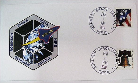 STS-130 Launch/Landing Postmarked Envelope (cover)