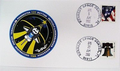 STS-131 Launch/Landing Postmarked Envelope (cover) - The Space Store