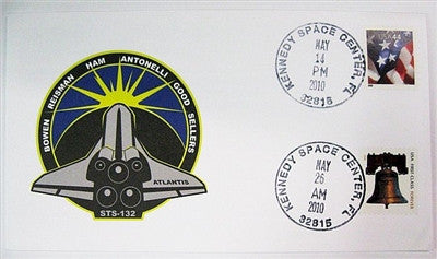 STS-132 Launch/Landing Postmarked Envelope (Cover)