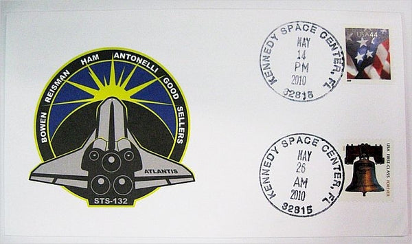 STS-132 Launch/Landing Postmarked Envelope (Cover) - The Space Store