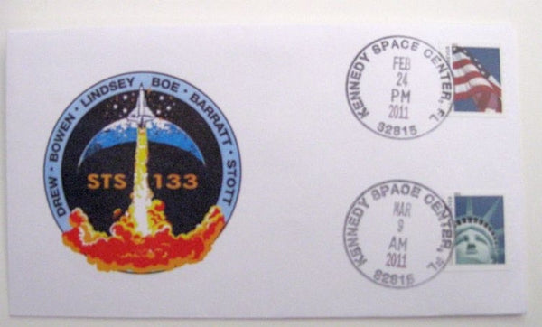 STS-133 Launch/Landing Postmarked Envelope (Cover)