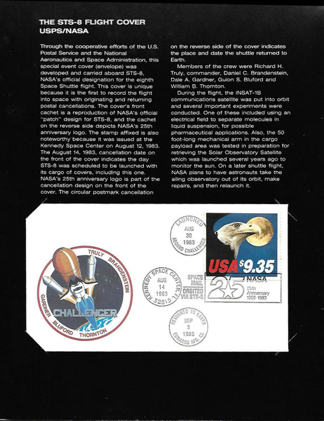 FLOWN STS-8 COVER