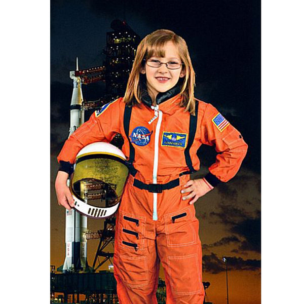 Orange Jr Astronaut Suit with Child Helmet (child size)