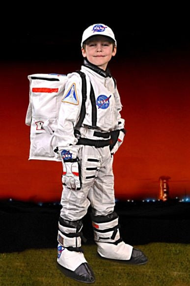 Full Astronaut 5 Piece Suit (White) - Size 6/8 - The Space Store