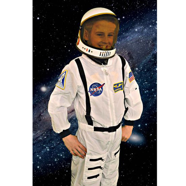 White Jr Astronaut Suit with Child Helmet (child size) - The Space Store