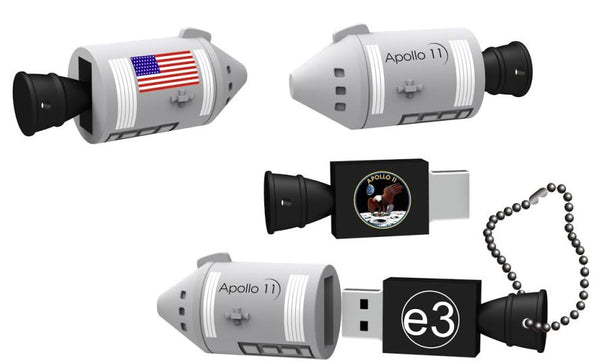 "Space on a Chip® ""featuring Apollo 11"" 16GB flash drive - The Space Store"