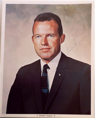 Gordon Cooper Signed Photo