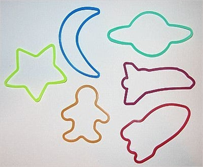 Space Shapes Glow in the Dark Wristbands (set of 24)