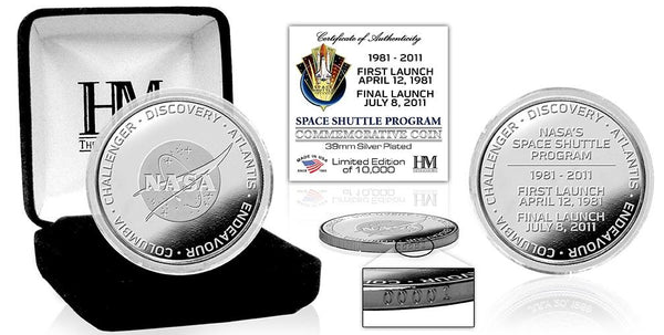 Space Shuttle Program Silver Coin