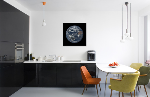 Earth Print - A Unique Way to Commemorate Special Events (Print on Canvas)