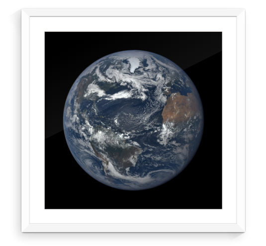"Earth Print - A Unique Way to Commemorate Special Events (Standard 5""x5"" Print) - The Space Store"