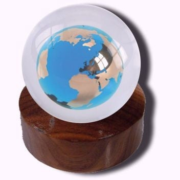Sphere Crystal Earth Paperweight (Large)