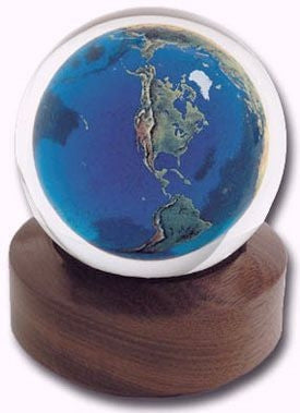Sphere Marble Earth Paperweight (Small)
