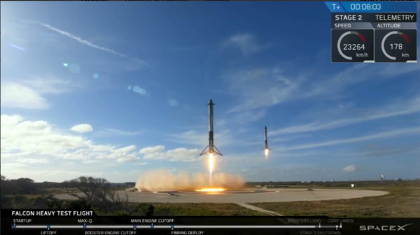 SPACEX FALCON HEAVY 'BOOSTERS RETURN TO CAPE' COVER - The Space Store