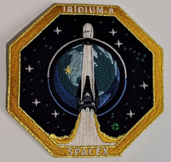 SPACEX IRIDIUM 8 MISSION PATCH - The Space Store