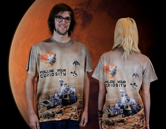 Mars Curiosity Rover T-Shirt in Full Color and 2 sided design - The Space Store