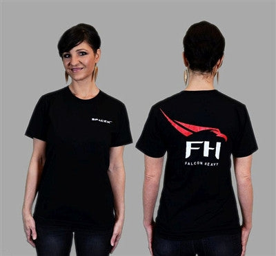 Falcon Heavy' T-Shirt (Black) - The Space Store